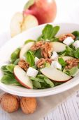 Autumn salad with apple, cheese and walnut — Stock Photo