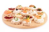 Canapes  on board — Stock Photo