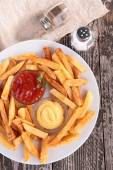 French fries chips — Stock Photo