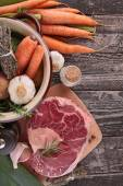 Vegetable and beef — Stock Photo