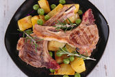 Grilled lamb chops — Stock Photo