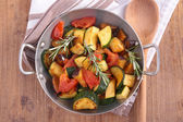 Fried vegetables in casserole — Stock Photo