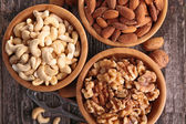 Almond, walnut and cashew — Stock Photo