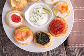 Caviar and canapes — Foto Stock
