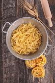 Pasta tagliatelle — Foto de Stock