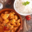 Chicken curry and rice — Stock Photo #56251423