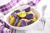 Tasty potato salad — Stock Photo
