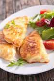 Tasty Crepe with cheese — Stok fotoğraf