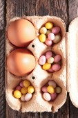 Easter eggs close up — Stock Photo
