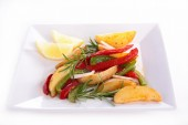 Tasty grilled vegetables — Stock Photo