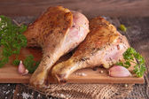 Grilled duck leg — Stock Photo