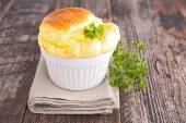 Cheese souffle in plate — Stock Photo