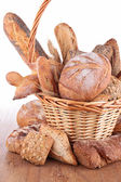 Fresh bread basket — Stock Photo