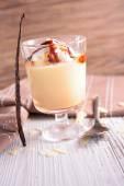 Custard cream with whipped egg whites — Stock Photo
