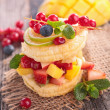 Desert with fresh fruits and berries — Stock Photo #62989973
