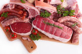 Raw meats assortment — Stock Photo