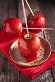 Toffee apples close up — Foto de Stock
