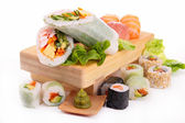 Assortment of various sushi — Stock Photo