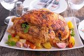 Roast chicken close up — Stock Photo