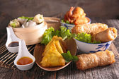 Assortment of asian cuisine — Stock Photo