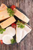 Dairy product, fresh cheese — Stock Photo