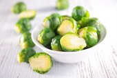 Brussel sprouts close up — Stock Photo