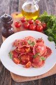 Red Italian pasta — Stock Photo