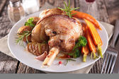 Cooked lamb chop with vegetable — Stock Photo