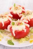Red tomato appetizer — Stock Photo