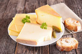 Dairy product with parsley — Stock Photo