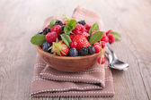 Mix fruits salad in bowl — Stock Photo