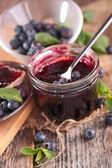 Tasty blueberry tart — Stock Photo