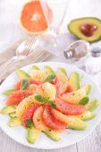 Tasty fresh fruit salad — Stock Photo