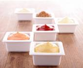 Assortment of cuisine sauces — Stock Photo