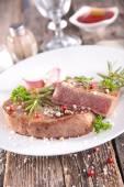 Close up of tasty beefsteak — Stock Photo