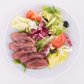 Duck breast with vegetables — Stock Photo