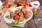 Grilled meat on stick — Stock Photo