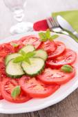Tomato and cucumber salad — Stock Photo