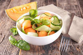Melon and cucumber salad — Stock Photo