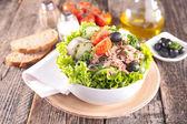 Fräsch sallad med tonfisk — Stockfoto