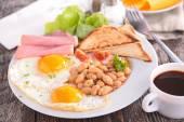 Tasty breakfast on table — Stock Photo