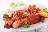 Grilled chicken legs, — Stock Photo