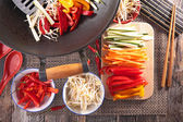 Asian food with different ingredients — Stock Photo