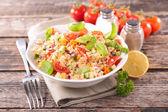 Quinoa salad with tomatoes — Stock Photo