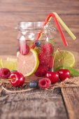 Detox water in glass jar — Stock Photo