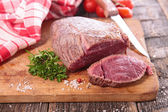 Grilled beef on board — Stock Photo