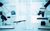 Modern microscopes in a lab . — Stockfoto