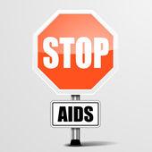 RoadSign Stop AIDS — Vector de stock