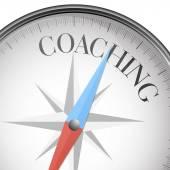 Compass coaching — Stock Vector