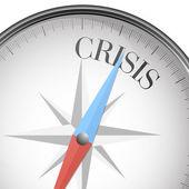 Compass crisis — Stock Vector